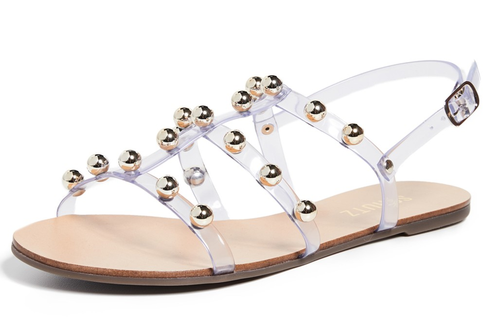 Schutz Yarin Strappy Sandals, clear shoes