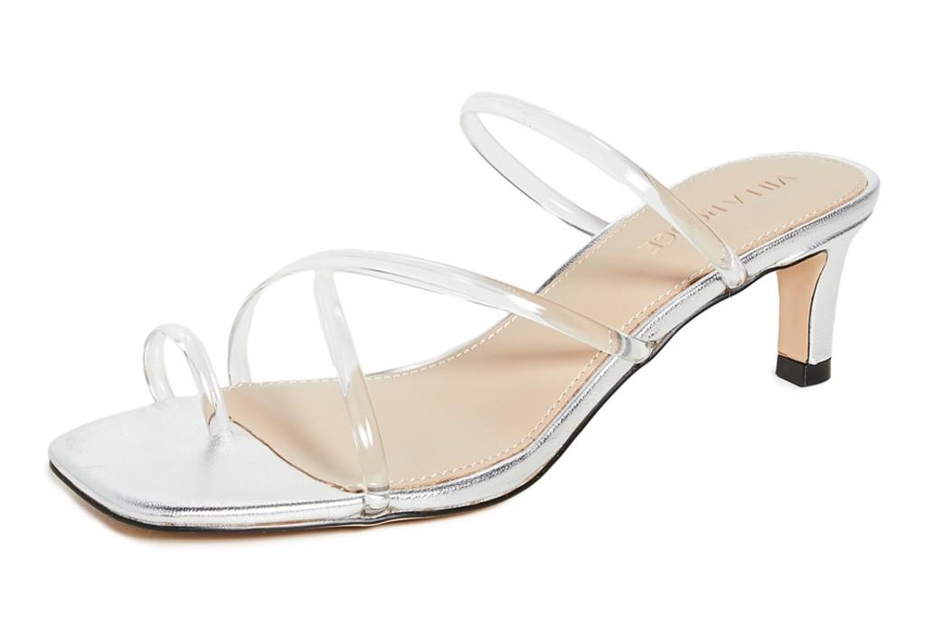 Villa Rouge Dax Slides, clear shoes