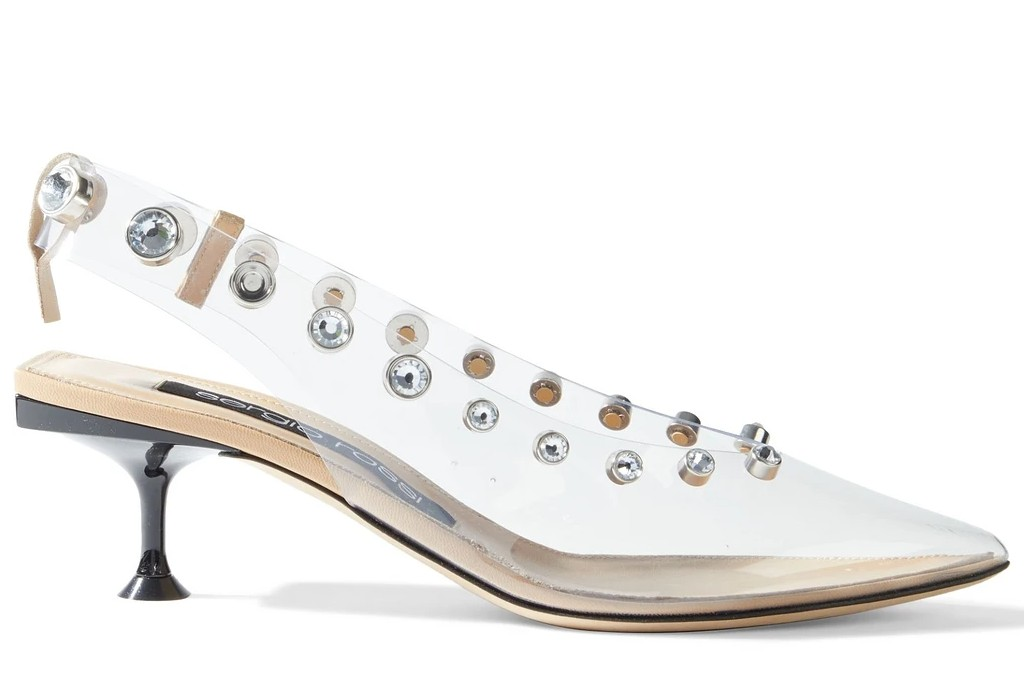 sergio rossi slingbacks, clear shoes