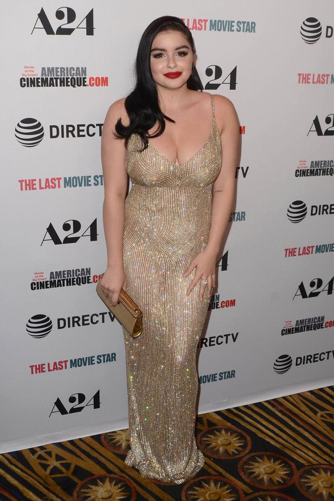 ariel winter, the last movie star, film premiere, gown, high heels, old hollywood glamour