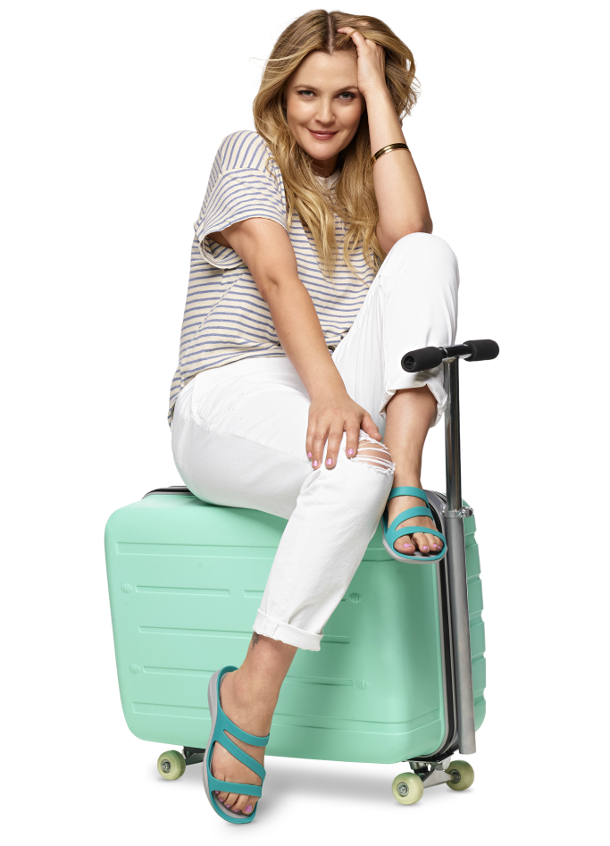 crocs, come as you are, drew barrymore