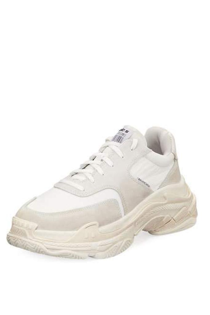 dad shoes, balenciaga triple s sneakers, barneys