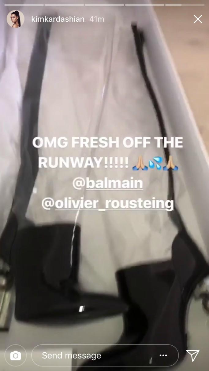 balmain fall 2018, kim kardashian instagram