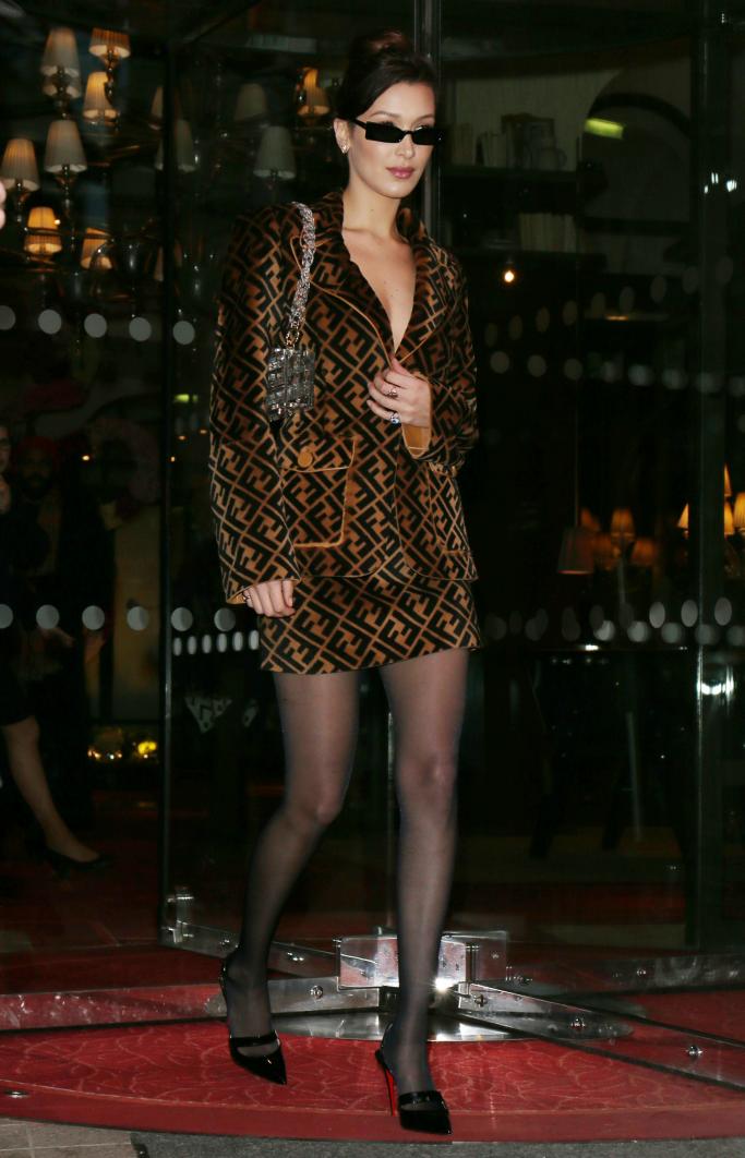 bella hadid, paris fashion week, fendi, christian louboutin