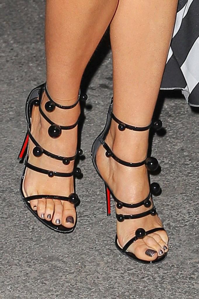 Blake Lively, sandals, Louboutin