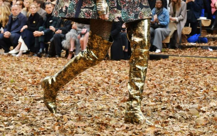 chanel fall 2018 over the knee boots