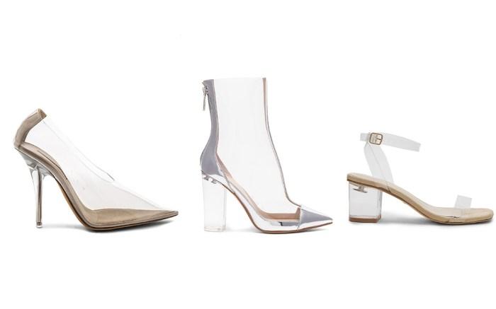clear shoe trend, yeezy season 6, kendall + kylie