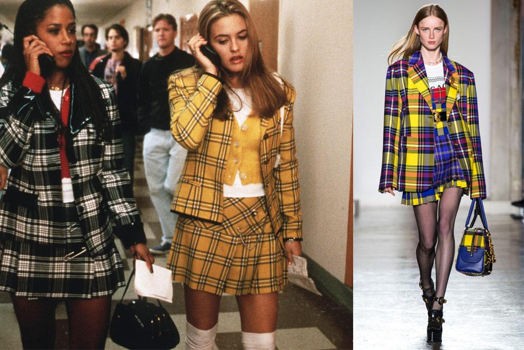 clueless, versace, plaid, fall, 2018, 90s, fashion