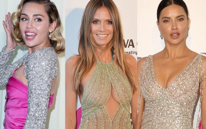 Miley Cyrus, Heidi Klum and Adriana Lima
