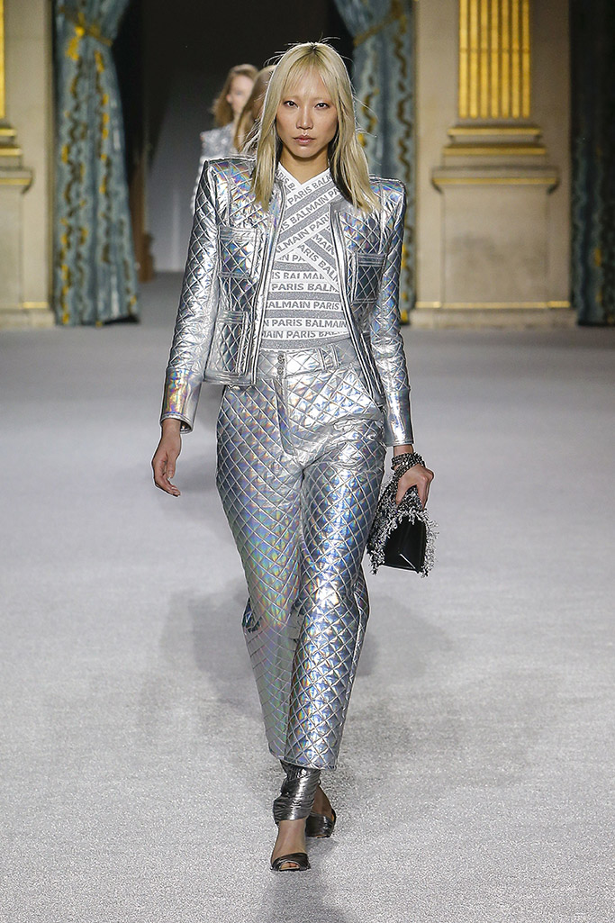 balmain, fall 2018 fashion week, 80s power dressing trend