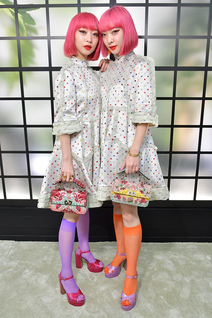 paris fashion week, street style, ami aya, suzuki twins