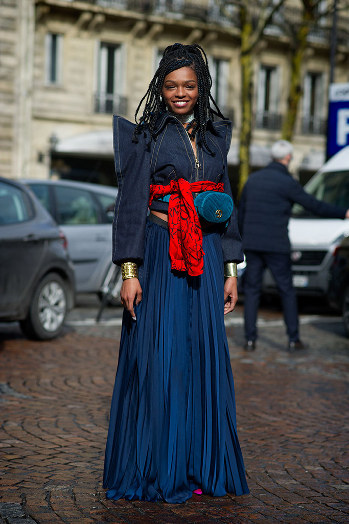 selah marley, paris fashion week, street style