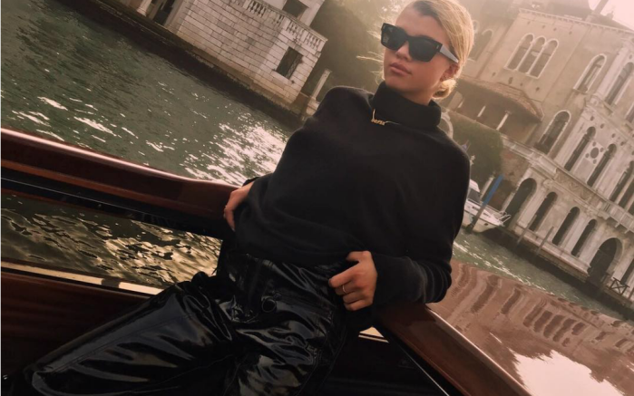 Sofia Richie gives a glimpse of herself on vacation.