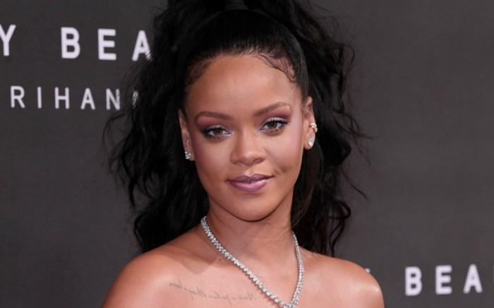 Rihanna arrives at the Fenty Beauty by Rihanna launch party.