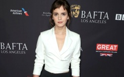 Emma Watson attends the BAFTA tea