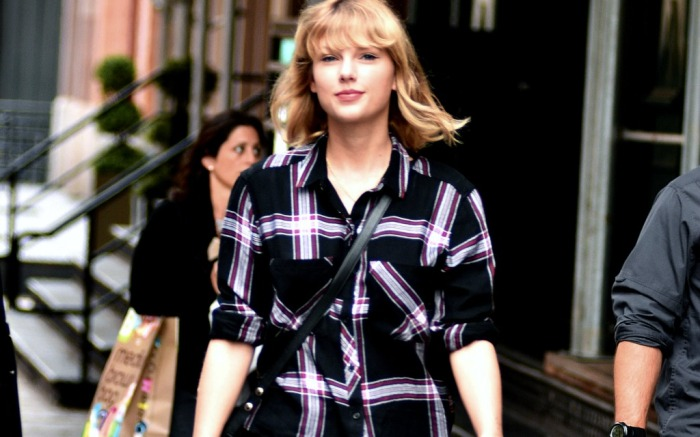 Taylor Swift out and about in the Big Apple.