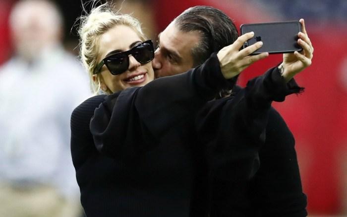 Lady Gaga and Christian Carino at the 2017 Super Bowl LI.