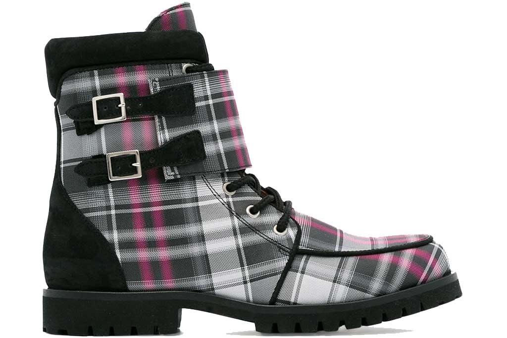 Ganni plaid boot