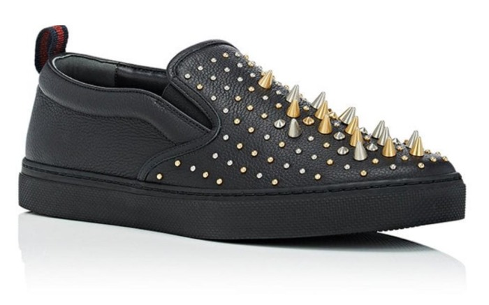 Gucci slip-on sneaker with spikes