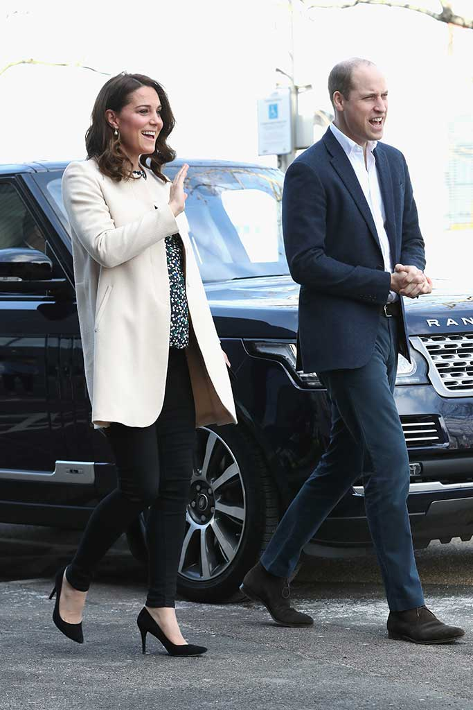 Kate Middleton and Prince William attend a SportsAid event in the Olympic Park in Stratford, East London.