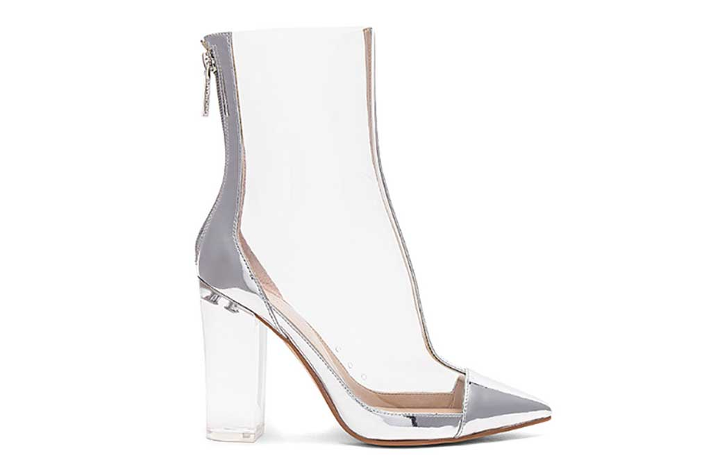 Kendall + Kylie clear boot