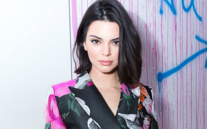 Kendall Jenner hosts a dinner during NYFW 2018.
