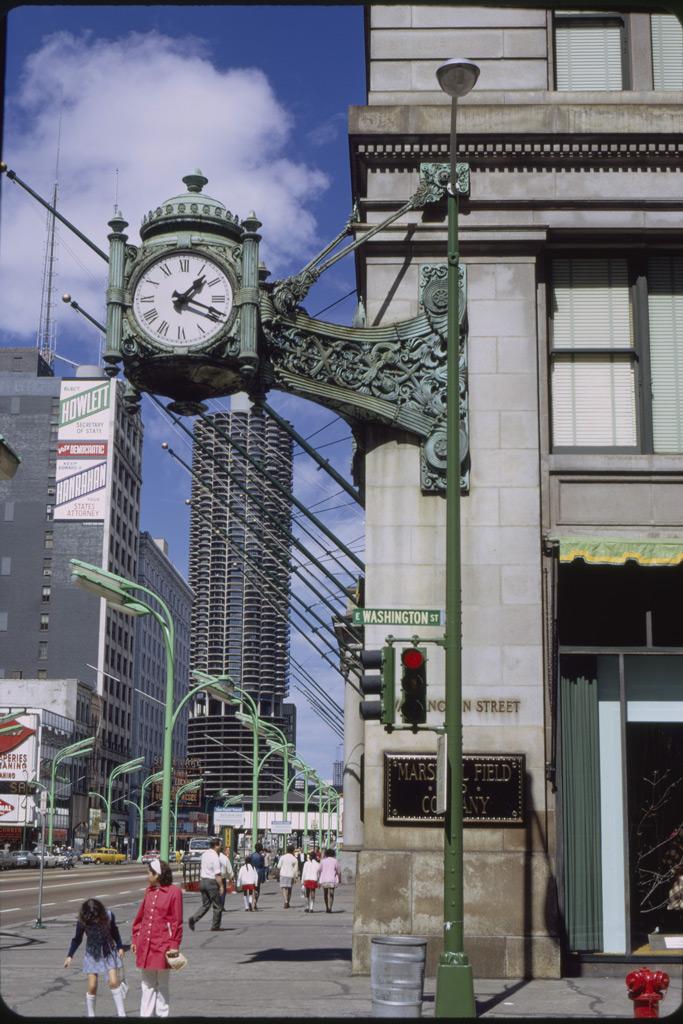 Marshall Field's, Washington Street, State Street, Great Clock