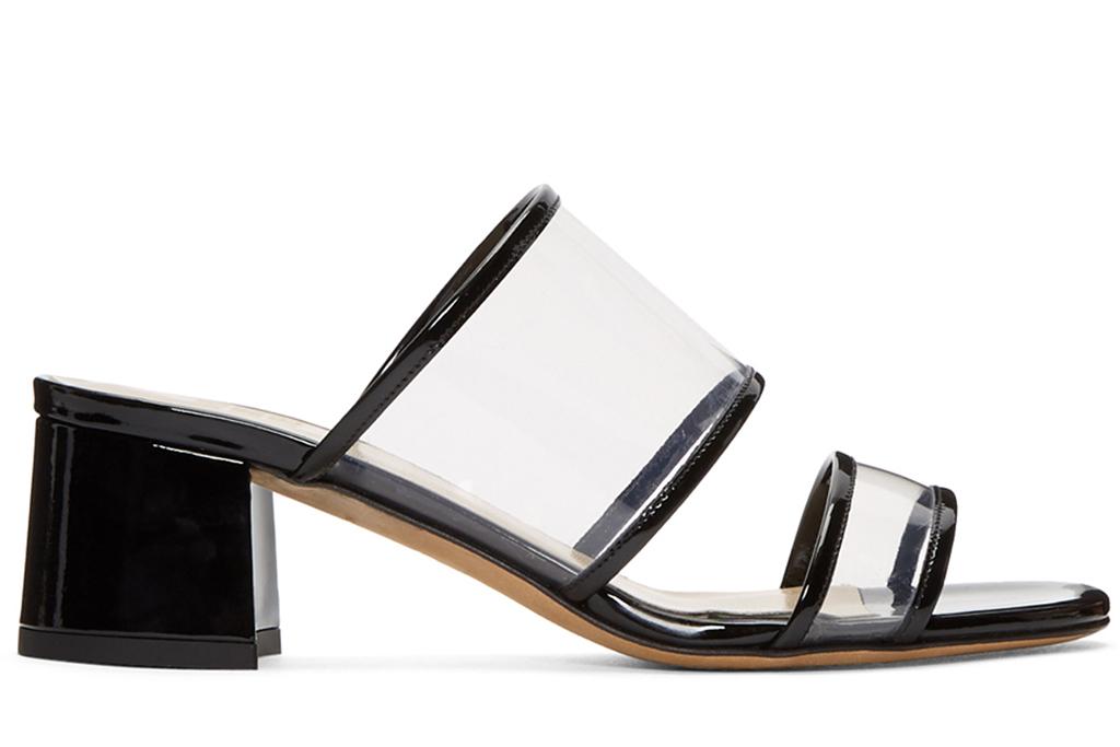 clear shoe trend, pvc heels