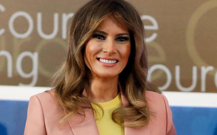 Melania Trump, pink suit, emilio pucci