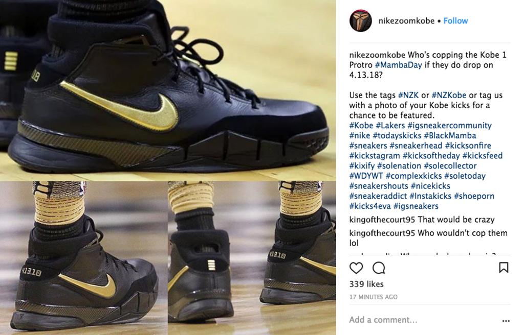 Nike Kobe 1 Protro Mamba Day DeMar DeRozan