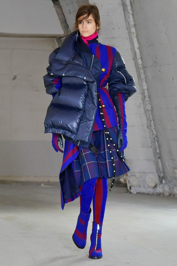kaia gerber, sacai fall 2018 ready to wear, paris fashion week