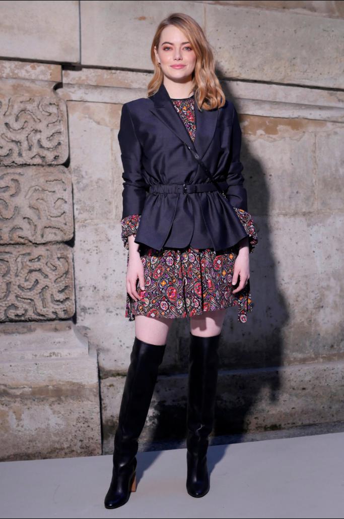 emma stone, paris fashion week,
