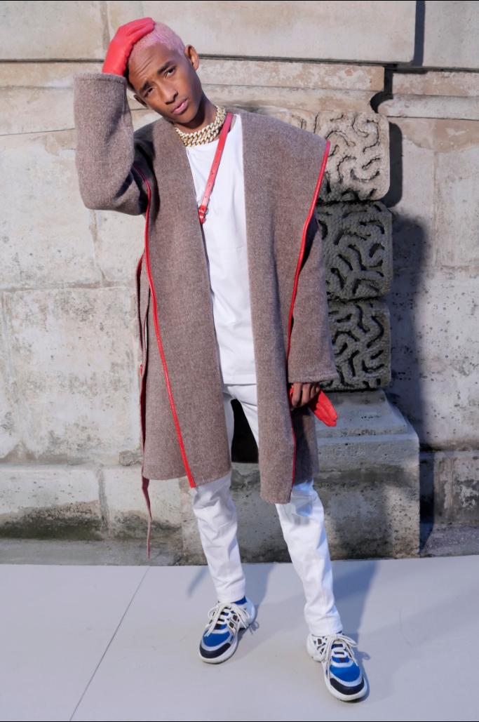 jaden smith, paris fashion week, front row louis vuitton