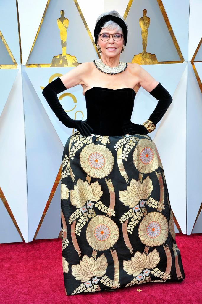 Rita Moreno at the 2018 Oscars