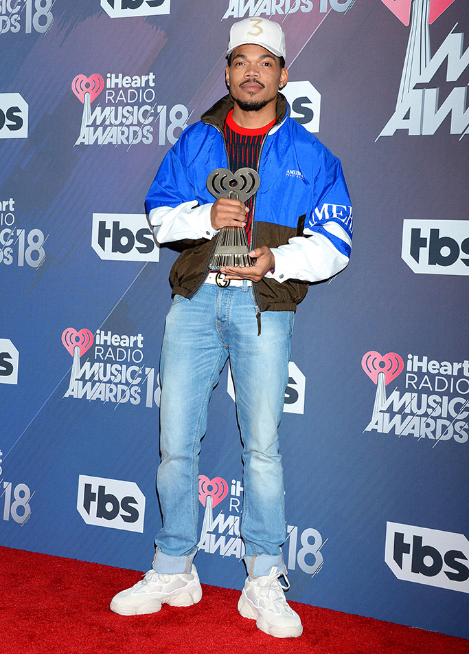 chance the rapper, yeezys, iHeart Radio Music Awards 2018