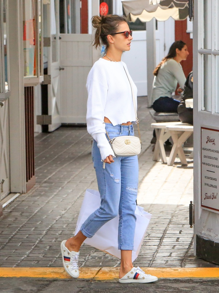 Alessandra Ambrosio wears Gucci while out and about in L.A.