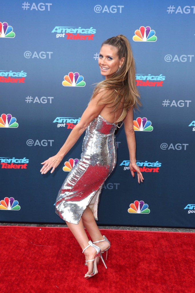 Heidi Klum at the 'America's Got Talent' TV series kickoff.
