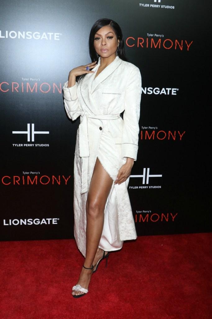 Taraji P. Henson attends 'Tyler Perry's Acrimony' premiere.