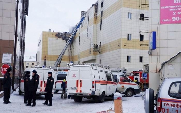 Russian shopping mall fire