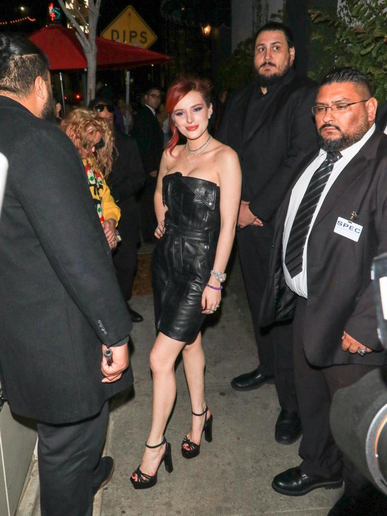 Bella Thorne out at Avenue nightclub.