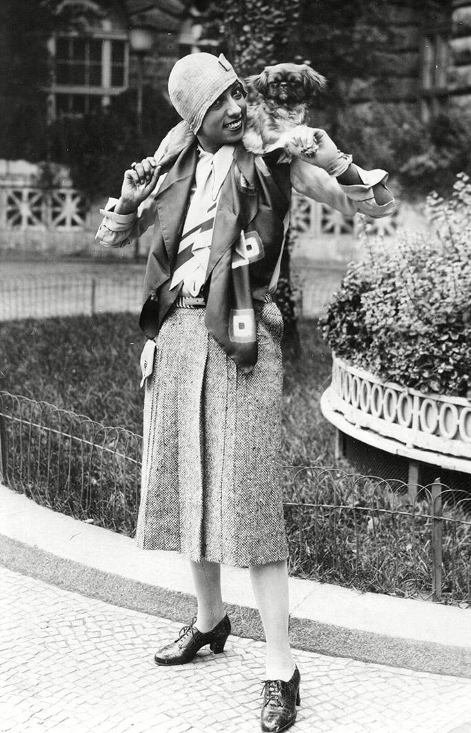 josephine baker, germany 1928, fashion style