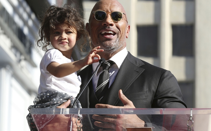 Dwayne Johnson The Rock Jasmine Hollywood Walk of Fame star ceremony 2017