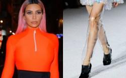 kim kardashian, balmain fall 2018