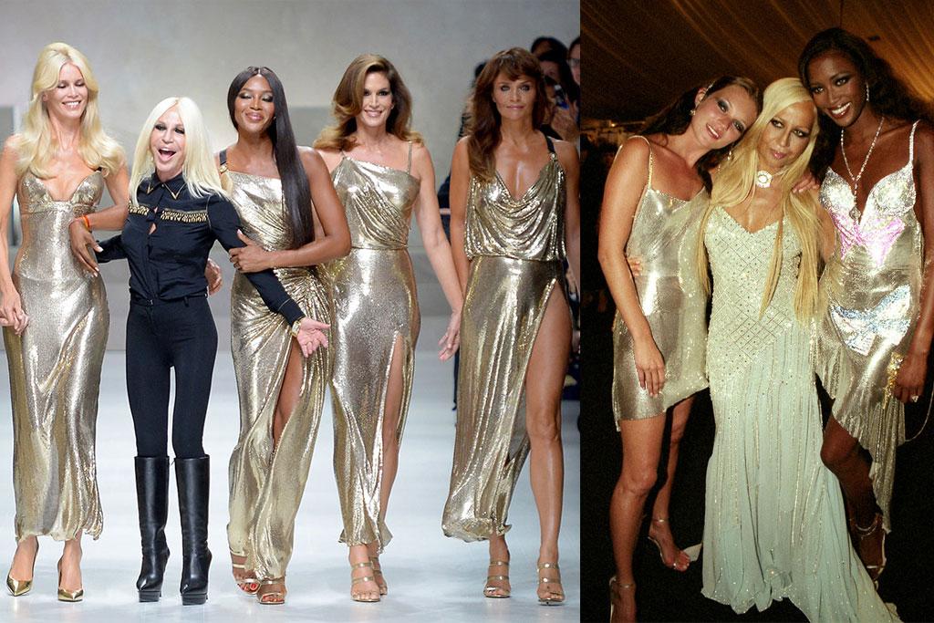versace, fall 2018, 90s fashion supermodels