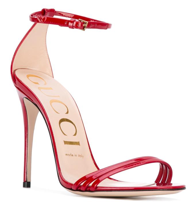 gucci patent leather stiletto sandals