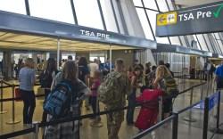 TSA Pre lines and registration center