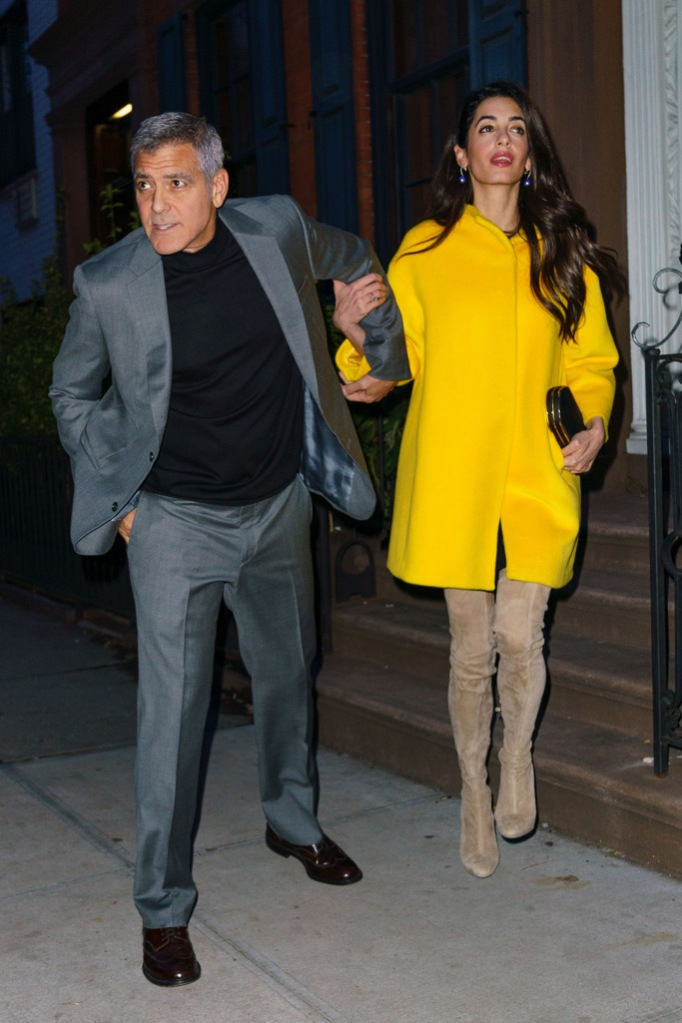 amal, george clooney, date night style