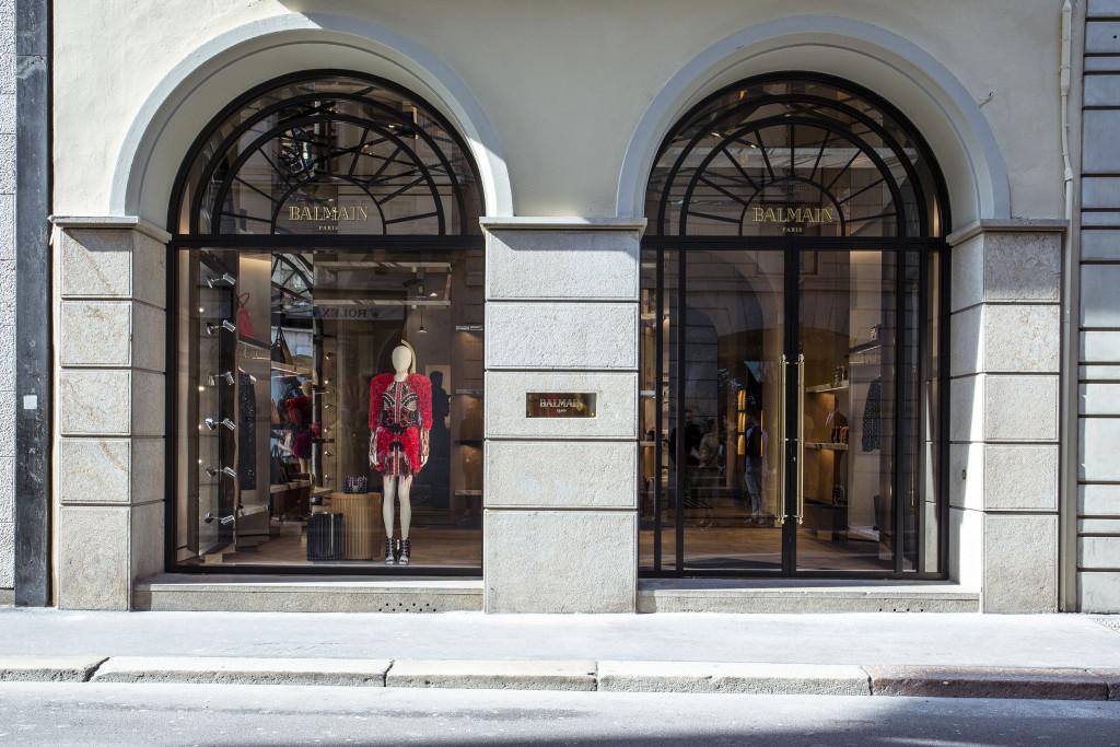 The Balmain flagship in Milan.