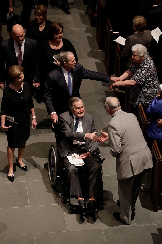Laura Bush, George W. Bush, George H.W. Bush