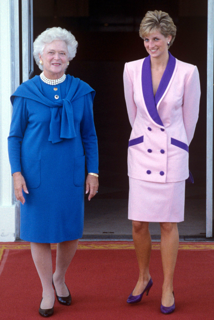 barbara bush, princess diana